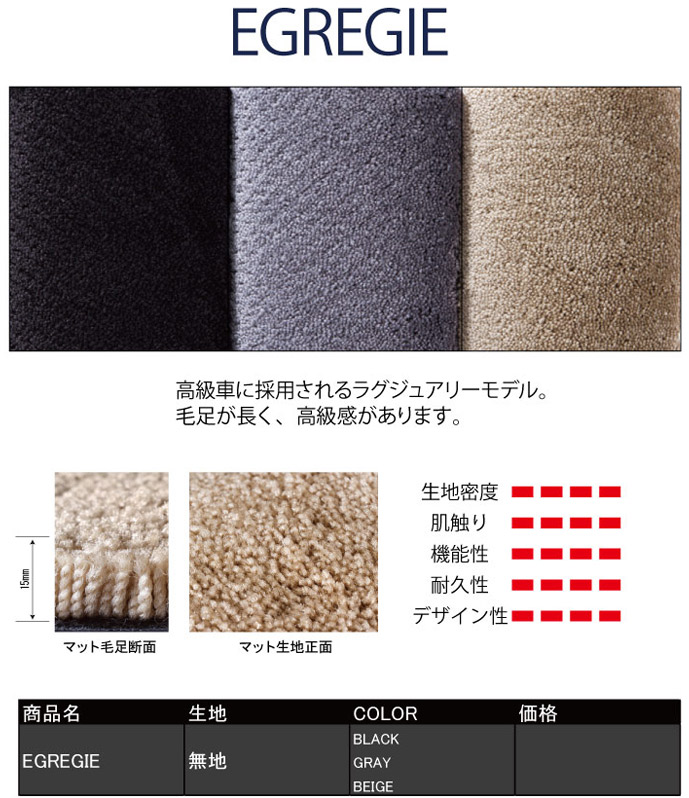 EGREGIE(エグレジエ)|メイドインジャパン(日本製)国産オーダーカーマット|ホイール修理・リペア・塗装なら名古屋市のシンボリ